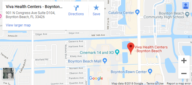 Map of Boynton Beach Chiropractors